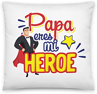 Kembilove Cojín para Padre – Cojines Padres con Frases Graciosas Papá Eres mi Héroe – Regalos Originales para el día del Padre – Cojines Suaves y Cómodos