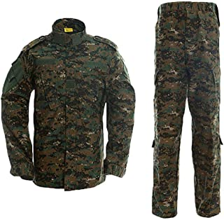 AKARMY Unisex Lightweight Military Camo Tactical Camo Hunting Combat BDU Uniform Army Suit Set