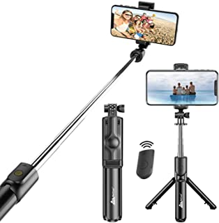 WeCool Bluetooth Extendable Selfie Sticks with Wireless Remote and Tripod Stand, 3-in-1 Multifunctional Selfie Stick with ...