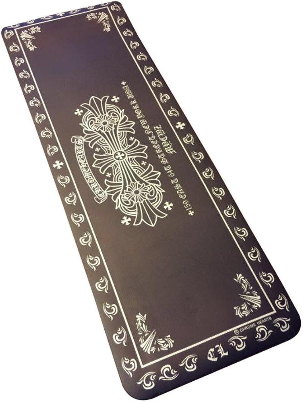 SSLW Yoga Mat Hibiscus Blaume Yoga Mat NBR Umweltmatten 10mm Dicke Verlngerung übung Fitness Matten