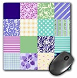 purple and pink patterned squares girly mouse pad