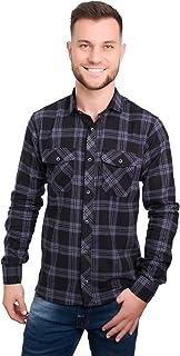 Camisa Casual Argali Falklands Flanela Xadrez Dark