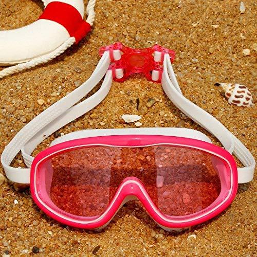 MRFYJ Zwembril voor volwassenen en kinderen, waterdichte veiligheidsbril voor kinderbrillen voor mannen vrouwen meisjes jongens Pulver weiß