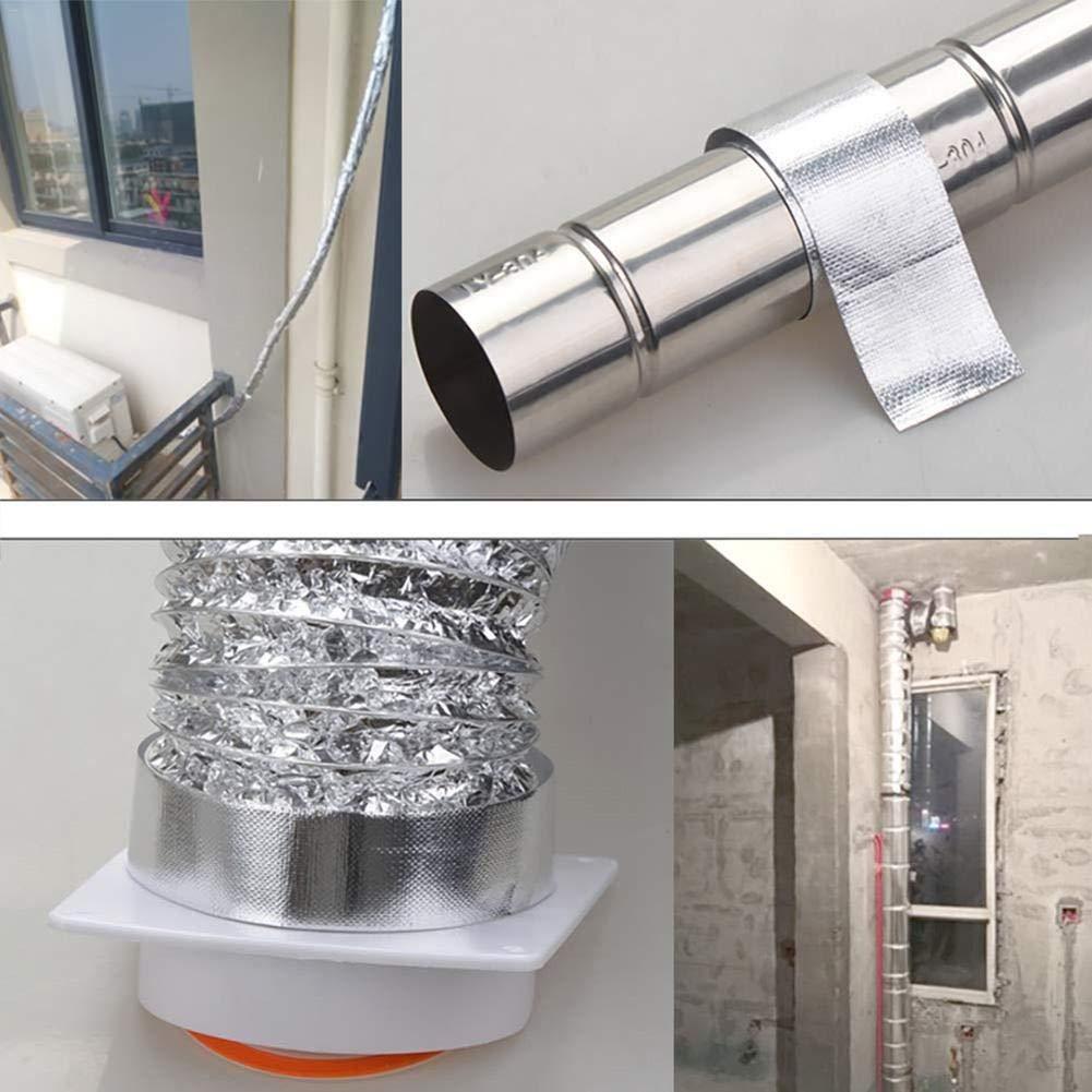 EZIZB - Cinta Adhesiva de Aluminio Resistente al Calor, para Reparar tuberías, para Diferentes Trabajos en Tubos, 5 cm breit * 20 Meter Lang: Amazon.es: Hogar