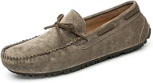 Mocassins Penny Comfort Original pour Hommes, en Cuir suédé, Souliers Bas Confortables Chaussures de Conduite Chaussures Plates Mocassins Pantoufles