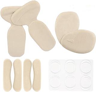 Plantillas de Zapatos con Tacón Alto, T-forma Plantillas Silicona/Gel Almohadillas de Talón, almohadillas antideslizantes para zapatos, parte trasera de los cojines de talón