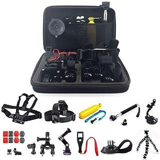 GoPro4 3+アクセサリーセットSj4000用大型カメラバッグ付き1胸リード付き23(ブラック)