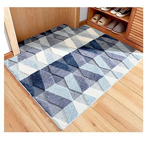 GELing Moderno Simple Alfombra Antideslizante Felpudo para Interiores y Exteriores,Lavable Absorbe rápidamente la Humedad y resiste Las alfombras de Suciedad 1 50 * 80cm