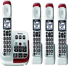 Sponsored Ad - Panasonic KX-TGM420W + (3)KX-TGMA44W Amplified Cordless Phone with Digital Answering Machine Expandable upt... photo
