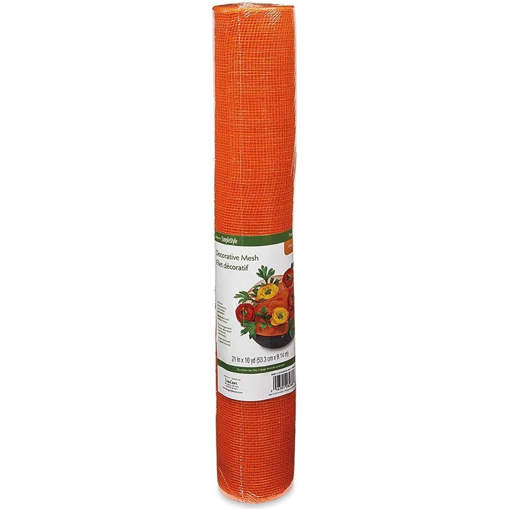 FloraCraft Decorative Mesh, 21-Inch by 10-Yard Length, Orange