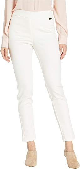 Cropped Leg Pull-On Pants