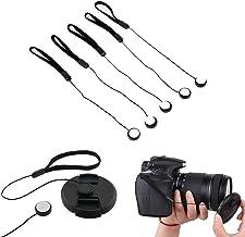 VizGiz 5 Pack Lens Cap Keeper SLR Camera Lens Cap Belt Holder Cover Cord Cable Anti-Lost Lanyard Strip Strap Rope String Universal for DSLR SLR Nikon/Sony/Fuji/Olympus/Panasonic