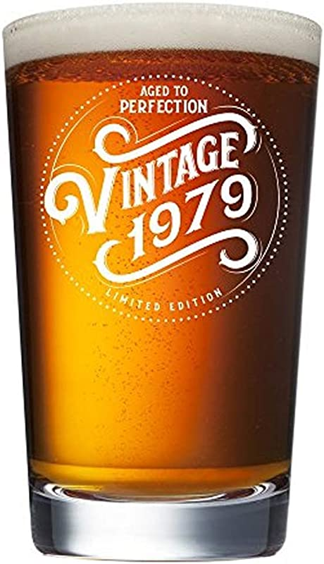 1979 40th Birthday Gifts For Men Women Beer Glass Funny Vintage 40 Year Old Presents 16 Oz Pint Glasses Party Decorations Supplies Best Craft Beers Cup Gift Ideas For Dad Mom Husband Wife 40 Th