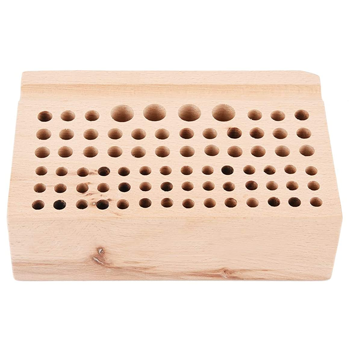 Wood Leather Craft Tools Holder Rack 76 Holes Professional Leather Craft Tool Wood Rack Wooden Punch Tool Stand Holder Organizer