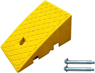 Motorcycle Rampss, Non-Slip Easy to Install Triangle Pad Home Garage Threshold Rampss Outdoor Car Uphill Pad Size:40 * 25...