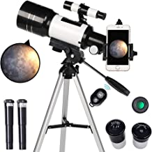 ToyerBee Telescope for Kids& Beginners, 70mm Aperture 300mm Astronomical Refractor Telescope, Tripod& Finder Scope- Portab...