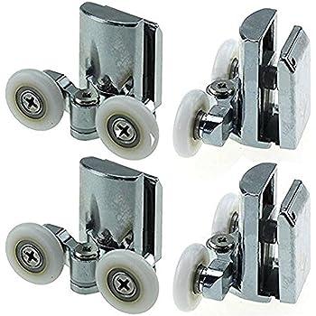 Set de rodamientos de mampara corredera de ducha doble, con guías ...