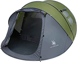 Weanas Easy Pop Up Tents, Instant Automatic 4 Person Family Camping Tents Easy Quick Setup Dome Popup Tents for Camping, Hiking and Traveling with Carrying Bag