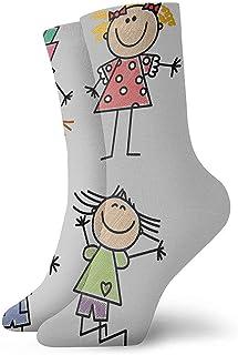 Be-ryl, Calcetines de Dibujo para niños Calcetines para Hombres y Mujeres Calcetines de Invierno Mantener abrigados Calcetines Hermosos
