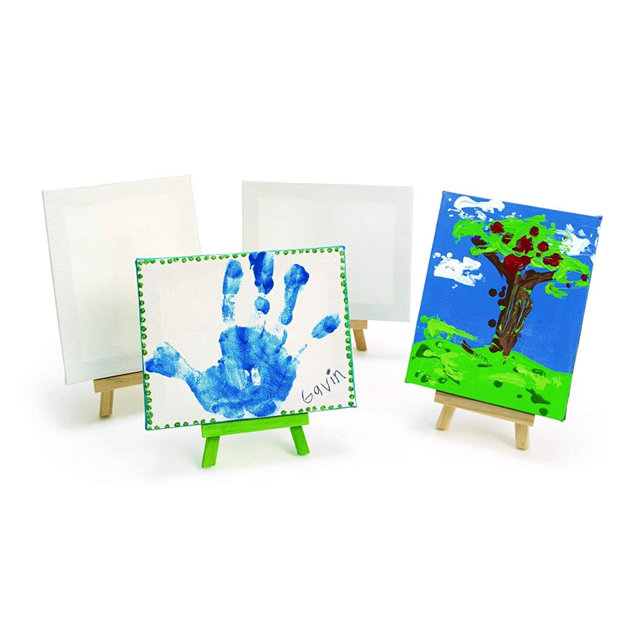 Colorations Pollock Mini Canvases and Easel (Pack of 6) bgemrujmpoljktmt