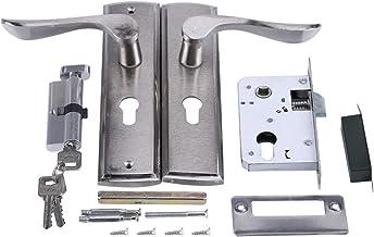 Deur vatslot Aluminium deurgreep slot cilinder voorste rughendel grendel huis beveiliging met sleutels vaste vierkante ton...