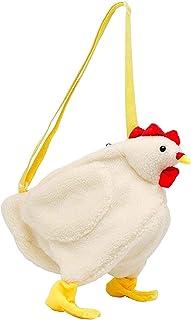 Abbraccia Soft Faux Fur Slouchy Shoulder Tote Bag for Women, Cute Chicken Crossbody Handbag for Dating, Traveling