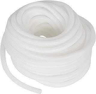 uxcell Flexible Plastic Drain Hose Pipe Tube for 82Ft 25M White