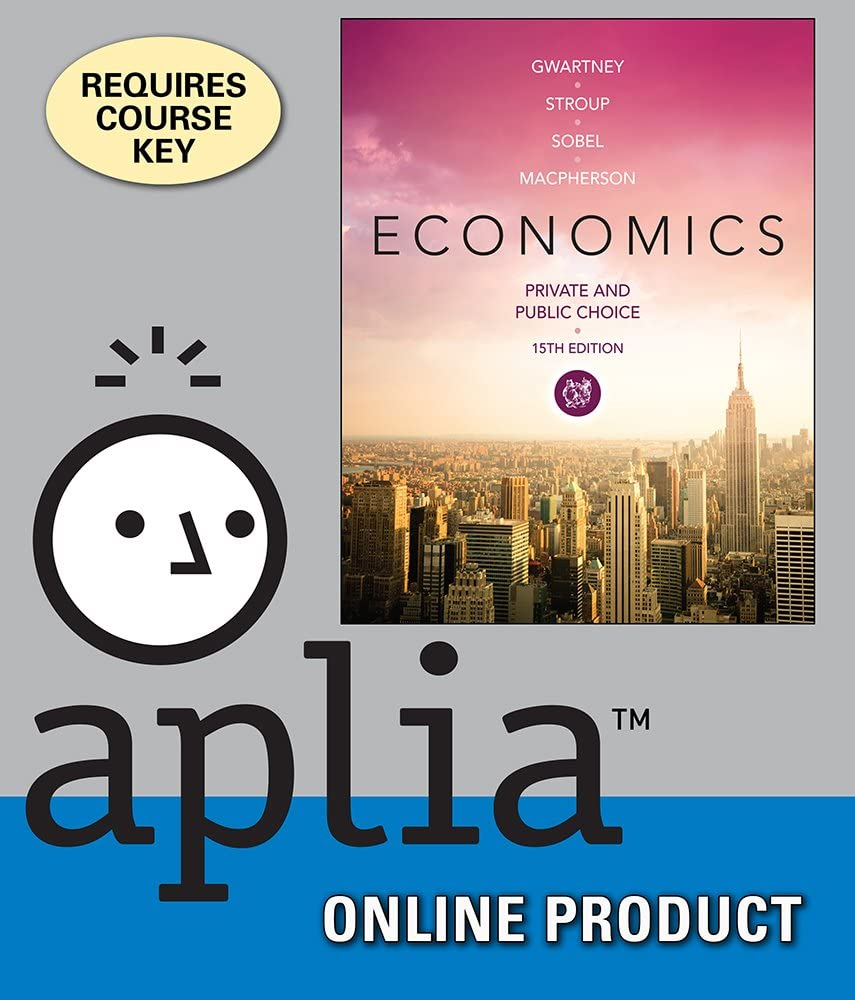 Aplia for Gwartney gift Stroup Microeconomics: Genuine Pri Sobel Macpherson's