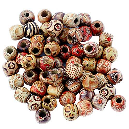 Snner #2 100 bolas de madera, cuentas espaciadoras intermedias, joyería artesanal