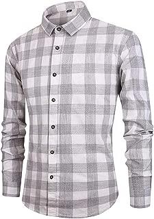 NIUQI Men's Long Sleeve Button Turndown Collar Painting Casual Top Blouse Shirts