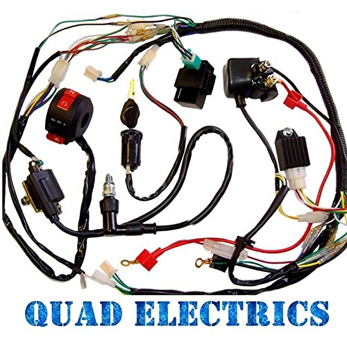 Full Electrics Wiring Harness Cdi Coil 110cc 125cc Atv Quad Bike