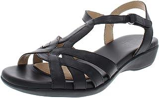 Womens Nella Leather Open Toe Casual Slingback Sandals