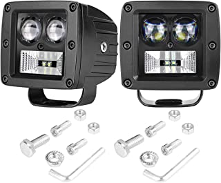 SWATOW INDUSTRIES LED Cube Lights 2PCS 80W Osram 3 Inch LED Pod Lights Off Road Spot Flood Driving Lights Fog Lights Square Work Lights for Truck ATV UTV Tractor Offroad Motorcycle Boat