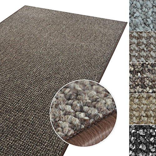 casa pura Kurzflor Teppich Carlton | Flachgewebe dezent Gemustert | robuster Schlingenteppich in vielen Größen | als Wohnzimmerteppich, Küchenteppich, Schlafzimmerteppich (Braun - 200x300 cm)
