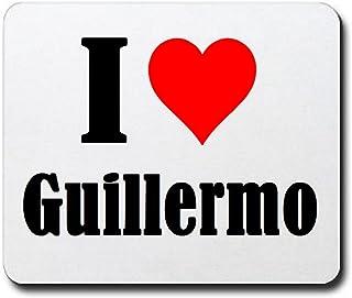 """EXCLUSIVO: Tapete de ratón """"I Love Guillermo"""" en Blanco, una gran idea para un regalo para sus socios, colegas y muchos má..."""