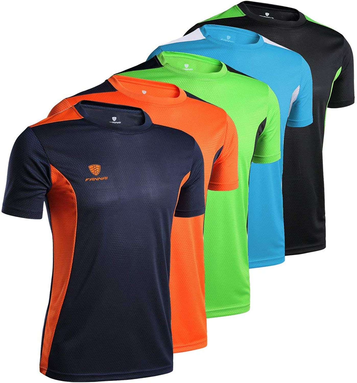 7d59b9f76367c JOYAN Men's Dry-Fit Athletic Athletic Athletic Shirts Active Short Sleeve  Performance Crew T-Shirt b7e676