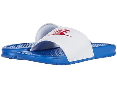 Nike Benassi JDI Slide (Game Royal/University Red/White) Men