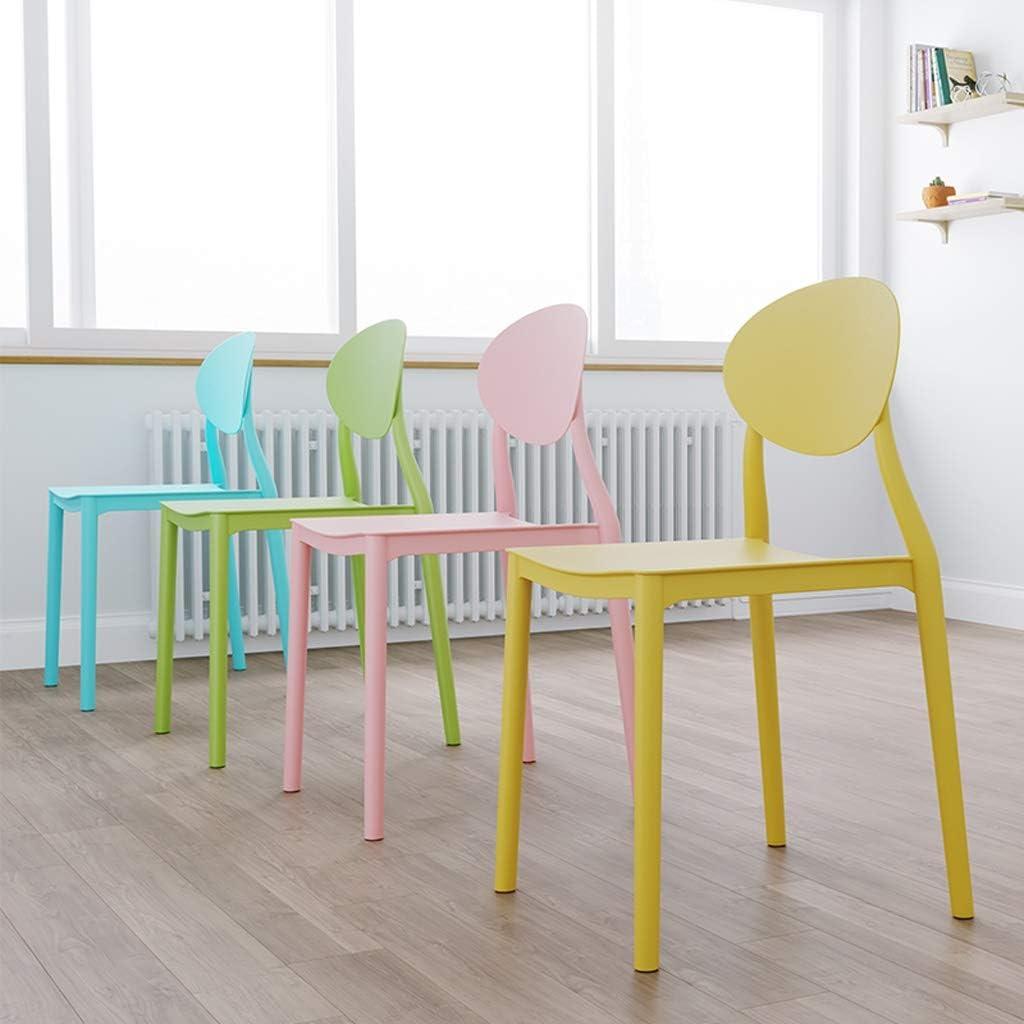 LF Chaise de Salle, Chaise de Bureau Simple, créative Dossier, Chaise Loisirs, Maison Adulte Chaise de Salle Simple (Color : Gray) Green