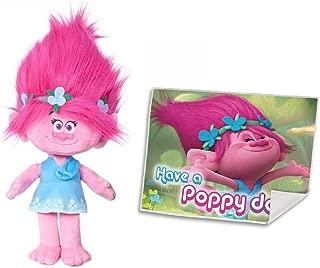Trolls Poppy DreamWorks Adorable Vibrant Poppy Plush Toy (36cm/14) with Free Face Towel