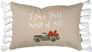 Primitives by Kathy Stitch Art Throw Pillow, 15 x 10-Inch, I Love Fall Most of All