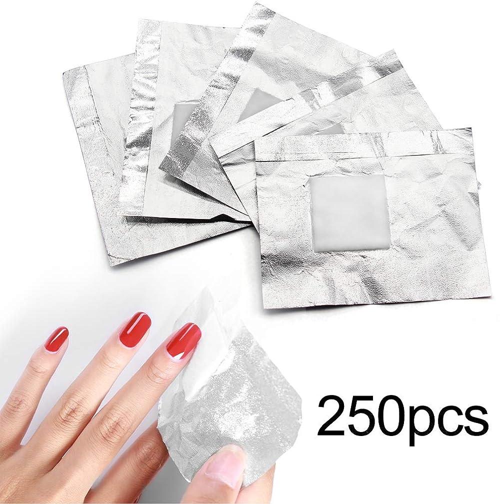 全国接辞生物学250pcs ネイルポリッシュをきれいにオフするコットン付きアルミホイル/きれいな爪