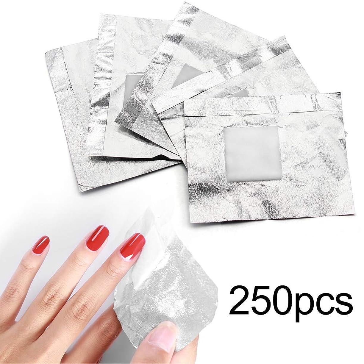 者ディスカウントエンターテインメント250pcs ネイルポリッシュをきれいにオフするコットン付きアルミホイル/きれいな爪
