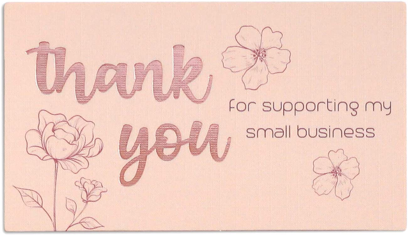 140 Thank You For Supporting My All items free shipping Premium Business Max 58% OFF Small Lo Cards