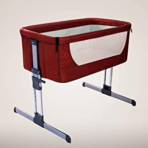 FQJY Multifunctional travel cot  Portable Baby Bed  height-adjustable  with rocking function and sturdy aluminum frame