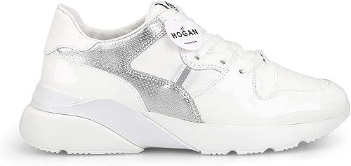 Hogan Damen HXW3850BF40KI60351 Weißs Leder Turnschuhe