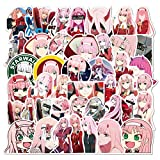 NANANA Anime In The Stickers Waterproof PVC Laptop Luggage Guitar Car Skateboard Zero Two Sticker Kids 100 Pcs
