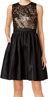 Best calvin klein sequin taffeta fit and flare dress Reviews