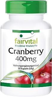 Arándano Rojo 400mg - Cranberry - VEGANO - Dosis elevada - 90 Cápsulas - Calidad Alemana