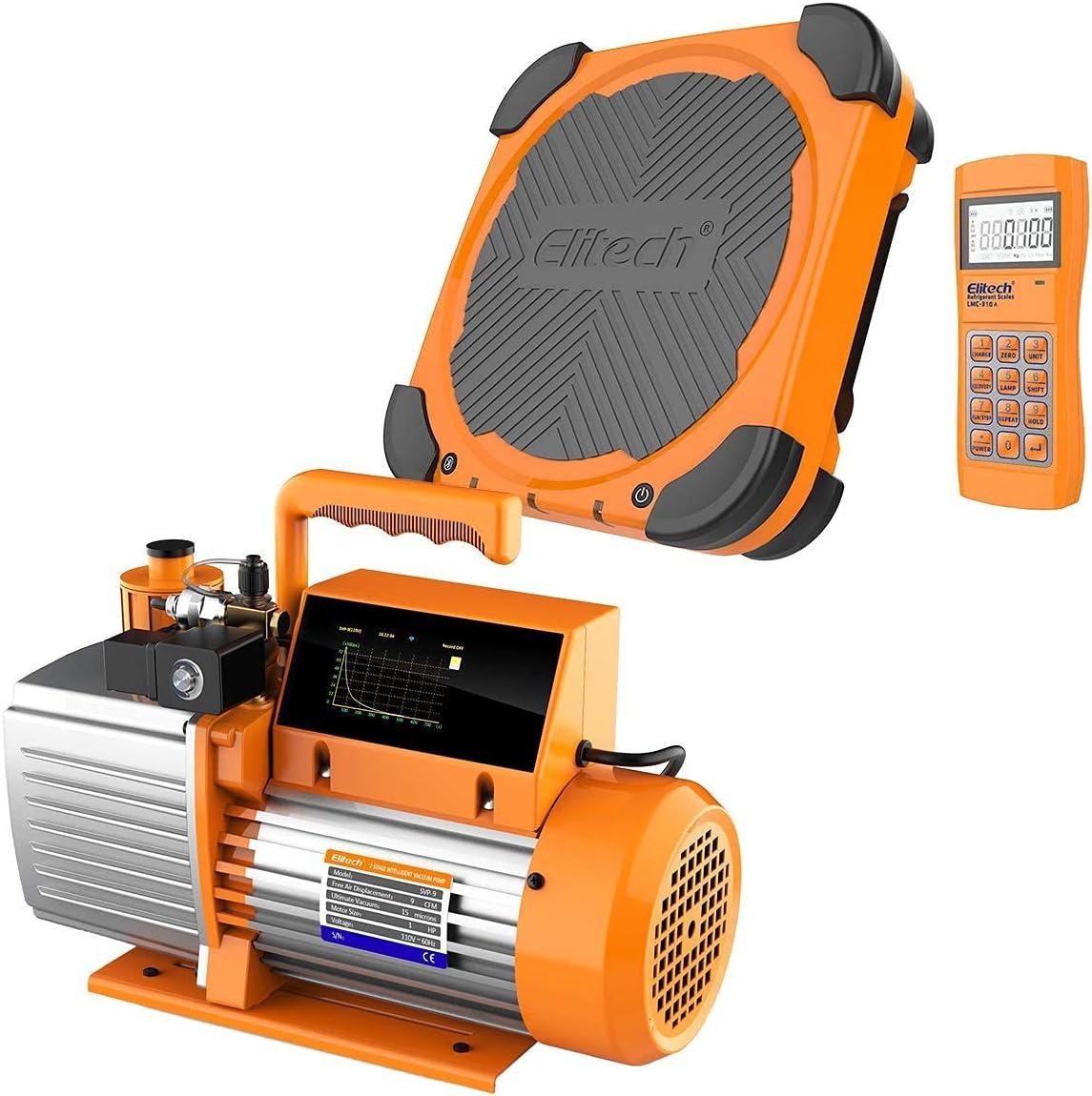 Elitech SVP-9 Vacuum Pump 9 CFM Limited price sale Stage Intelligent 2 HVAC 40% OFF Cheap Sale LMC-310