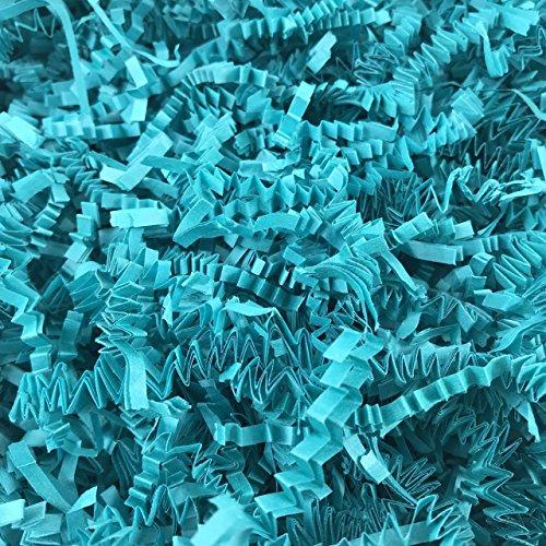 Black Cat Avenue 1 LB Teal Crinkle Cut Paper Shred Filler for Gift Wrap and Basket Filler